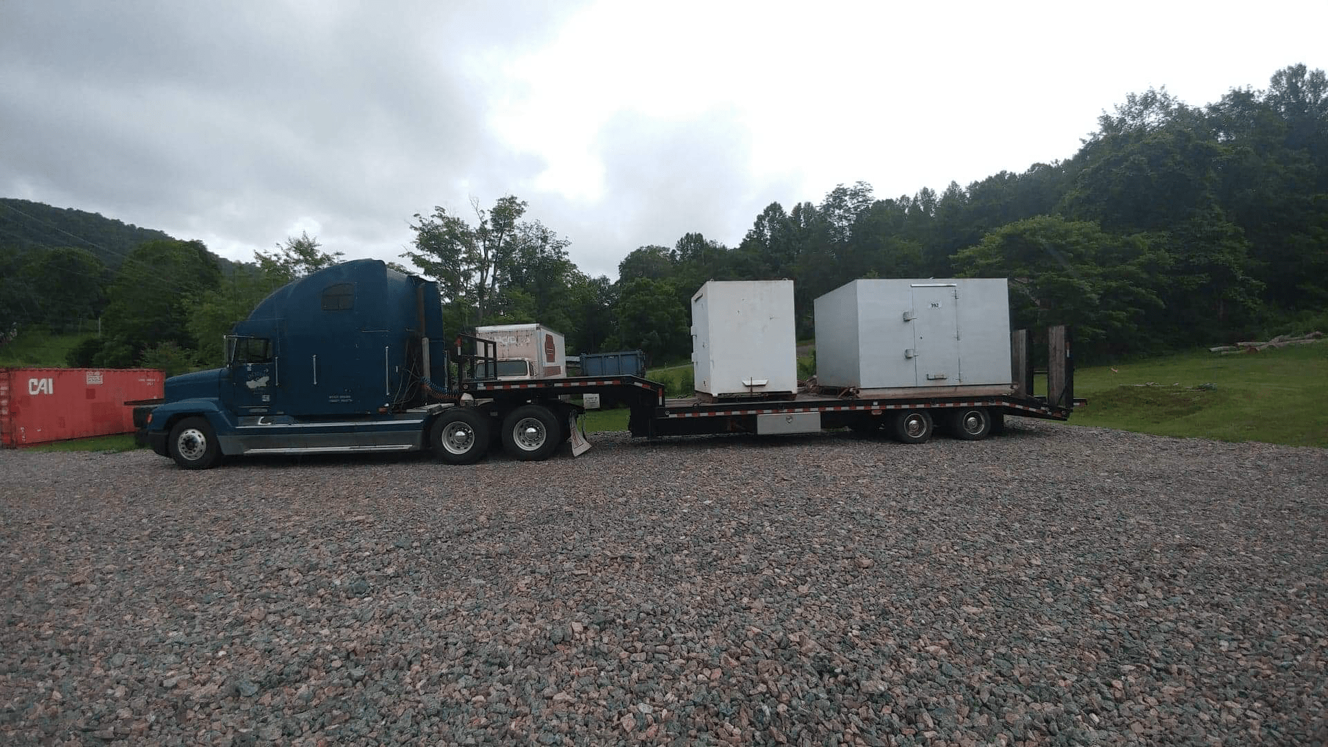 truck hauling boxes